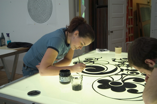 Jackie working on